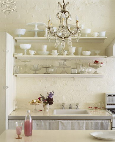 home, house, ivory, kitchen, pastel, room, vintage, white