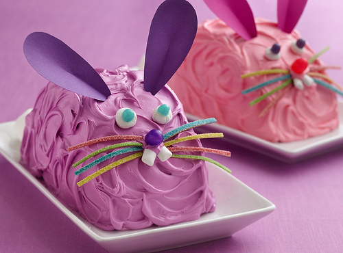 ice cream, rabbit, rabbits