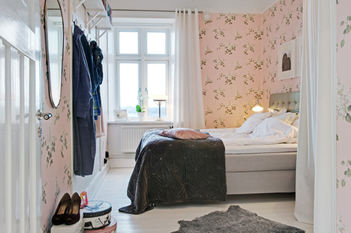 interiors design, pink, room, soft, wallpaper