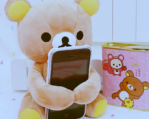 iphone, kawaii, pink, teddybear
