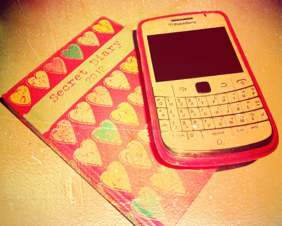 2012, blackberry, diary, phone, photography