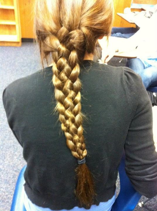 5 strand braid, braid, brunette, colorful, fashion