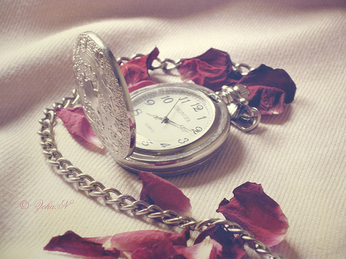 accessories, beautiful, clock, flower, memories