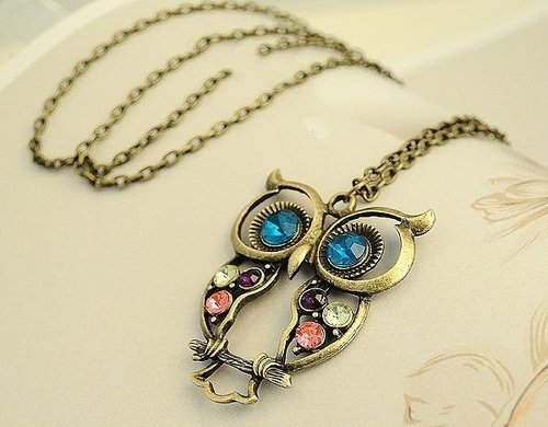 accessories, cute, jewellery, necklace, neckless, owl, owl necklace, pretty