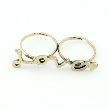accessories, double finger ring, jewelry, love, ring