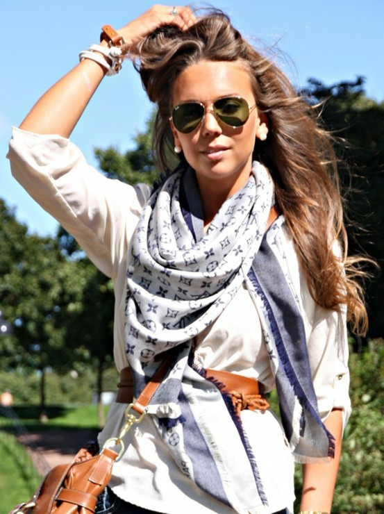 accessories, fashion, girl, glasses, hair, louis vuitton, nice, pretty, scarf