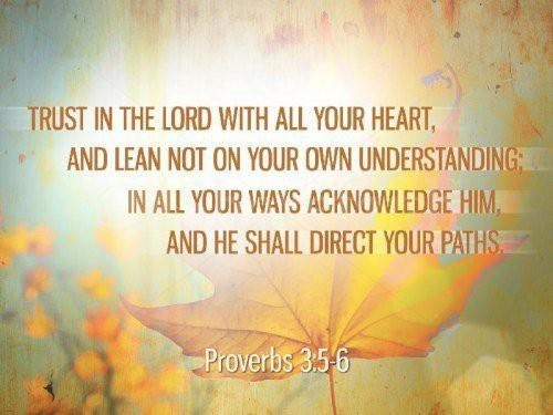 acknowledge, faith, god, heart, leaf, lord, paths, proverbs, text, trust, understanding, verse, words