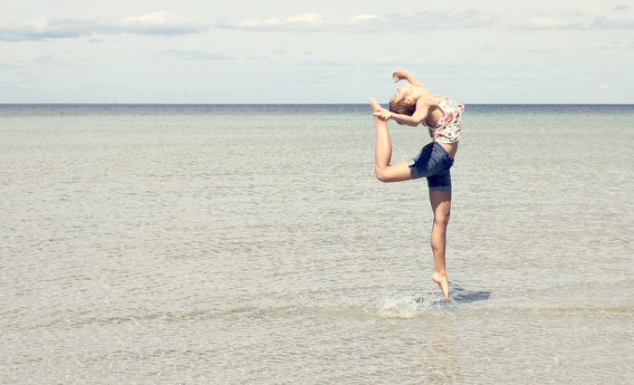 acrobatic, beach, beautiful, denim, dream