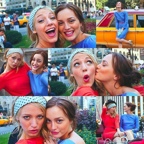 actoresses, colors, friendship, fun, gossip girl