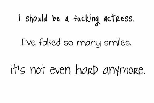actress, fake, smile, text, true story