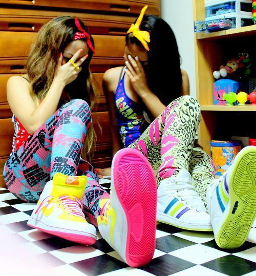 adidas, best friends, girl, nike