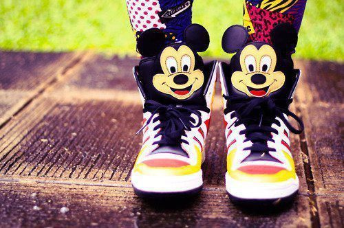 adidas jeremy scott, cool, cute, fashion, mickey mouse