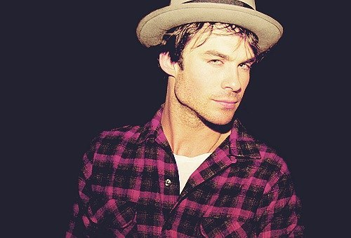 adorable, amazing, beautiful, beautiful guy, black, blue eyes, boy, chess, cute, fashion, hat, ian somerhalder, love, perfect, pretty, wonderful