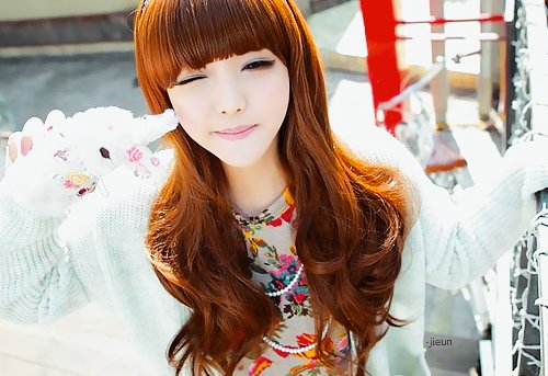 adorable, asian, bangs, beautiful, cute, eye liner, girl, hair, kfashion, korean, korean girl, make up, ulzzang
