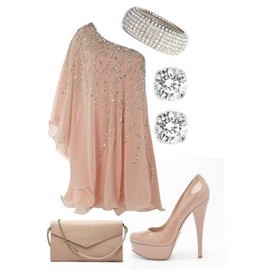 adorable, awesome, beige, cute, diamonds, dress, girl, heels, model, outfit, pretty