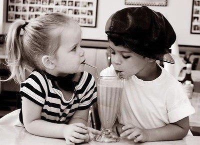 adorable, black & white, children, cute, drink
