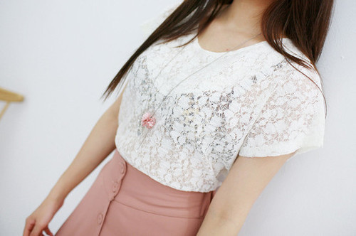 adorable, brown, brunette, clothes, cute, dress, fashion, floral, flowers, girl, girls, girly, hair, lace, lovely, necklace, perfect, pink, pretty, shirt, short, skinny, skirt, transparent, tshirt, white, woman