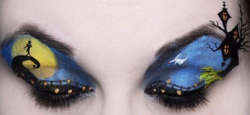 adorable, cool, criative, cute, desing, eyes, jack, love, make up, nightmare before christmas