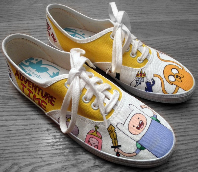 adventure time, adventure time sneakers, i want them really badly, please buy these for me, shoes