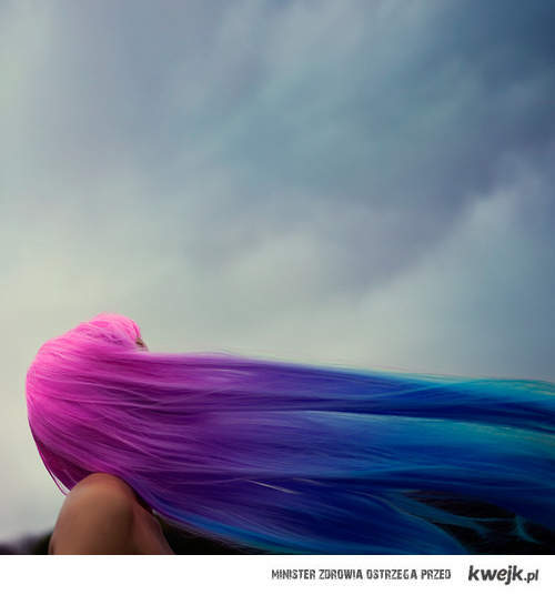 air, blue, colors, hair, purple