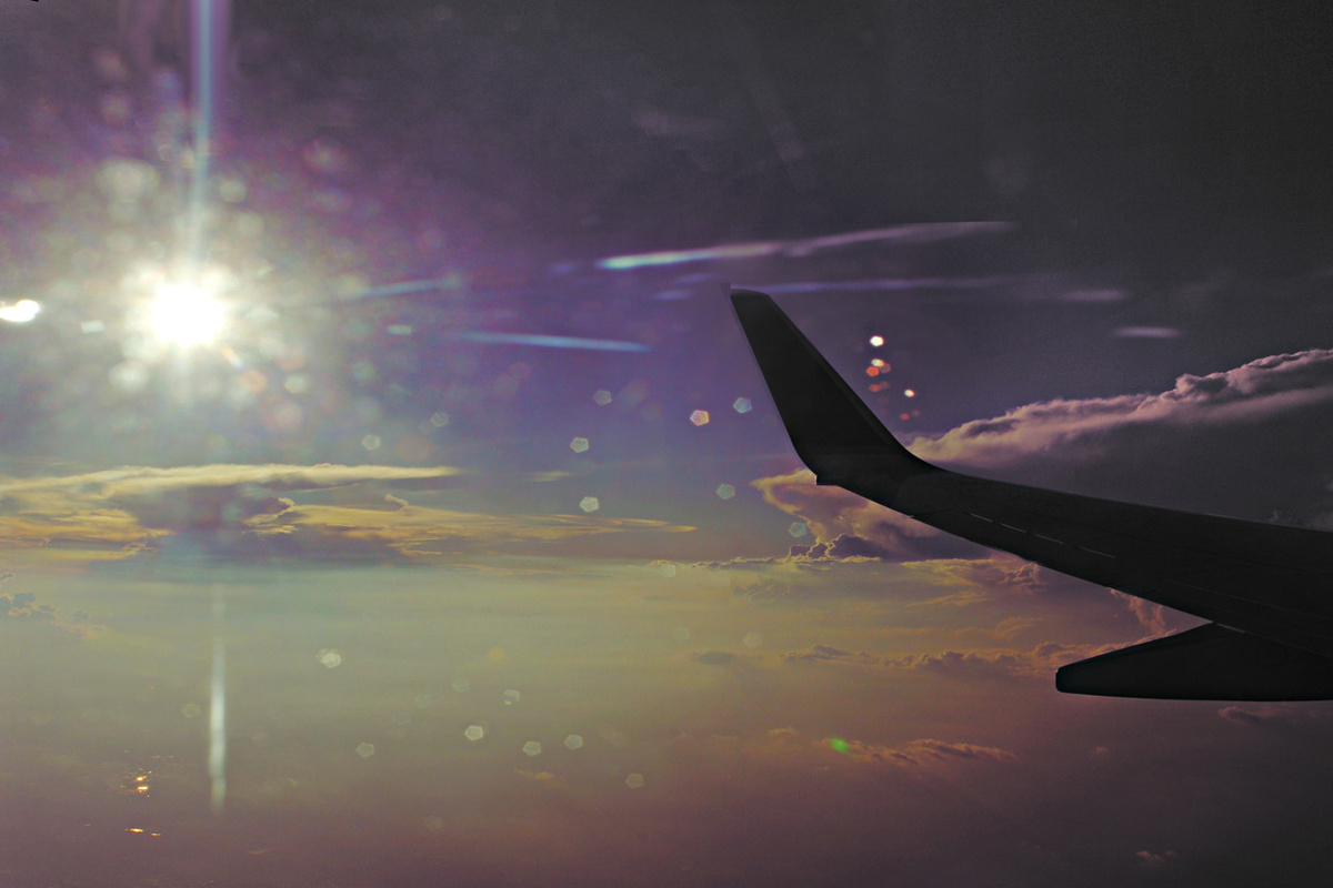 airplane, beautiful, color, cute, lens flare