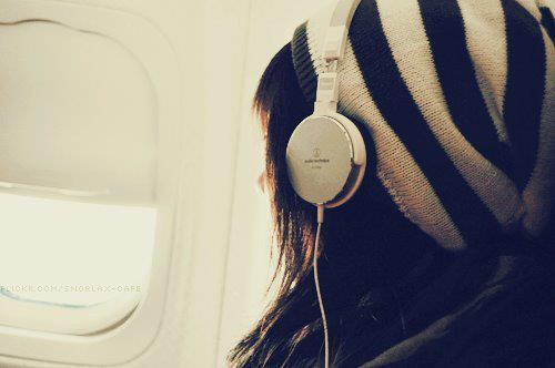 airplane, girl, i love music, music