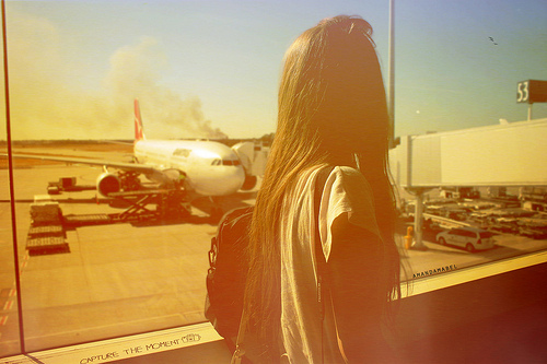 airport, girl, hair, hipster, light
