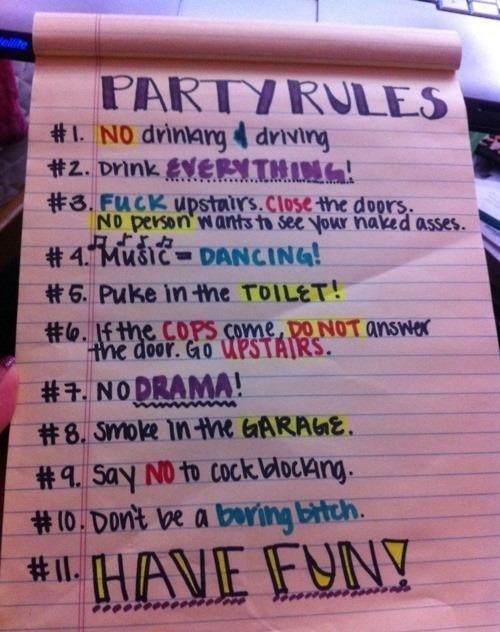 alcohol, drink, funny, party, party rules, rules, vodka