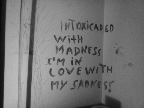 alice and wonderland, black and white, cigarette, crazy, insane, intoxicated, love, mad, quotes, sad, smoke