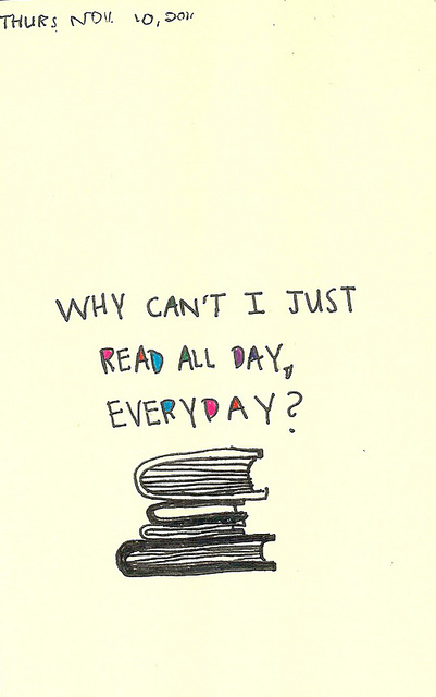 allday, book, read, text