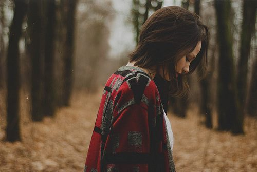 alone, autumn, beauty, brown hair, casual