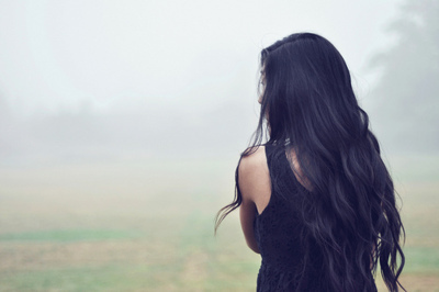 alone, brunette, girl, hair
