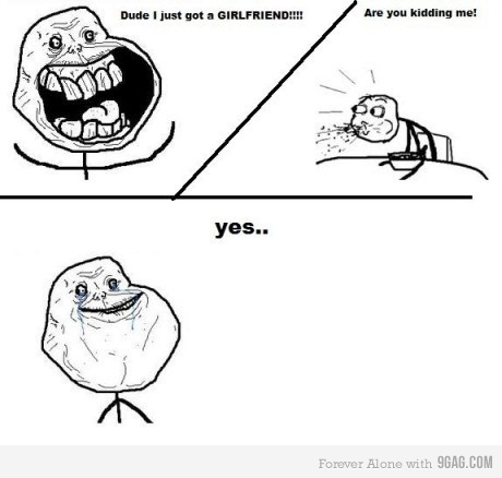 alone, cereal, cereal guy, forever, forever alone, funny, girlfriend, humor, lol, meme