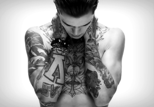alternative, black and white, ink, inked, tattoed