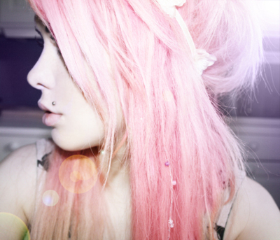 alternative, cute, girl, hair, pink
