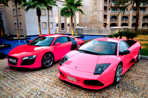 amazing, audi r8, car, lamborgini, luxury, pink