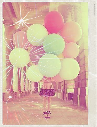 amazing, beautiful, colors, girl, globos, great, life, street