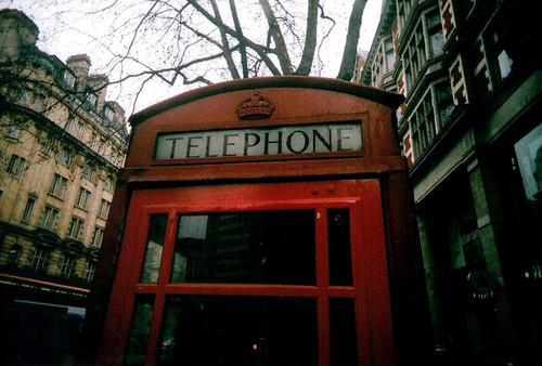 amazing, london, snow, telephone, winter