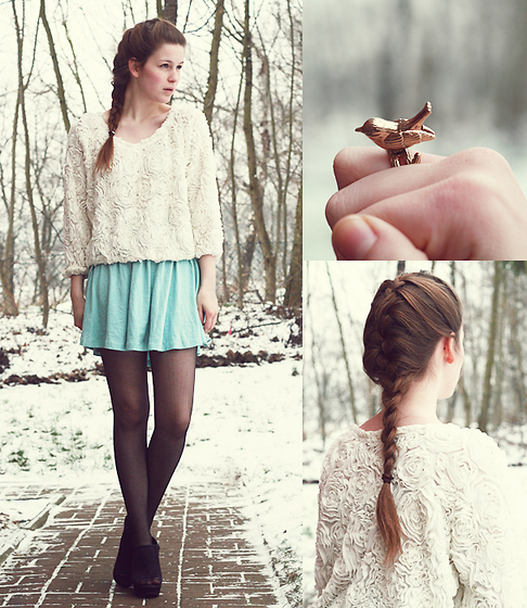 american apparel, beautiful, bird, braid, fashion