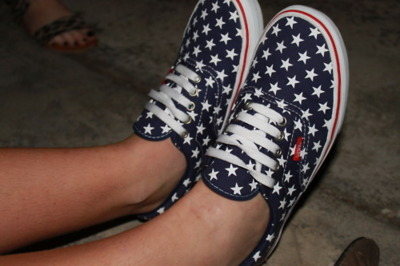 american flag, fashion, girl, shoes, trend