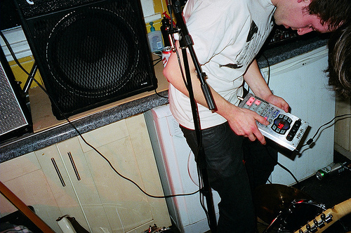 analog, band, boy, cute, grain, guitar, hipster, indie, live, music