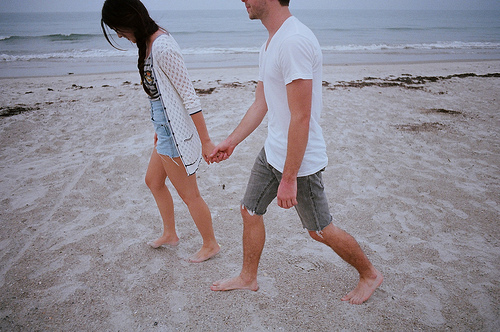 analog, beach, boy, couple, cute