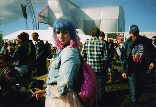 analog, blue hair, colour, cute, dip