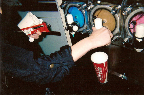 analog, cinema, cola, cute, drink