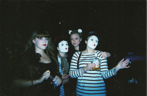 analog, cute, girl, grain, halloween, hipster, indie, party, smoke