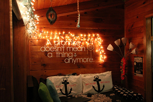 anchors, art, bed, bedroom, creative