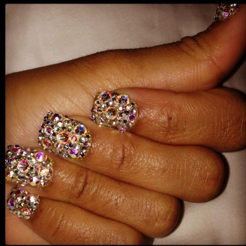 animal, animal print, bling, cool, crystals, cute, fingers, girl, glitter, hot, nails, pretty, print, purple, sexy, tan
