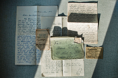 antique, art, beautiful, calligraphy, cursive, envelopes, handwritting, letters, light, old, photo, photography, sunlight, text, vintage