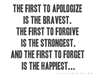 apologize, brave, forget, forgive, happy