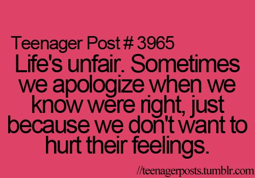 apologize, friend, hurt, post, teenager
